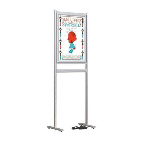 Çift Taraflı - LED Işıklı Poster Stand