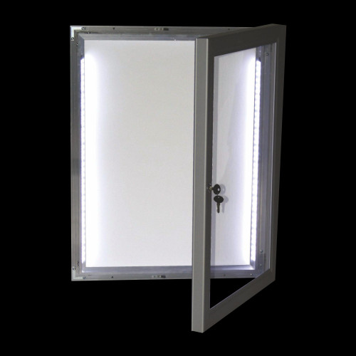LED Aydınlatmalı Kilitli İlan Dolabı